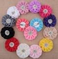 O envio gratuito de Pérolas & Centro de Cristal flor grampos de cabelo das Crianças Crianças floral Grampos de Cabelo Criança acessórios para o cabelo flor