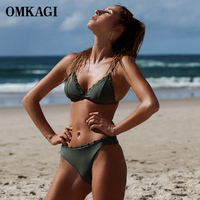 OMKAGI Bikini Swimwear Swimsuit Women Sexy Bikini Set Bathing Suit Maillot De Bain Femme Biquini Beachwear