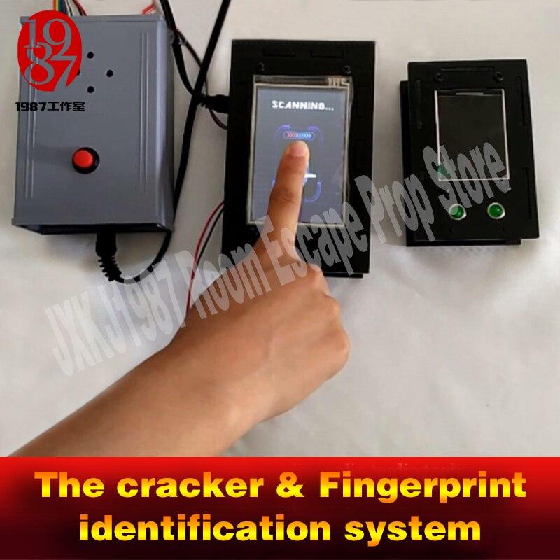 La vraie vie room escape jeu prop système tracker et identification des empreintes digitales pour déverrouiller la pièce de chambre prop aventure jxkj1987