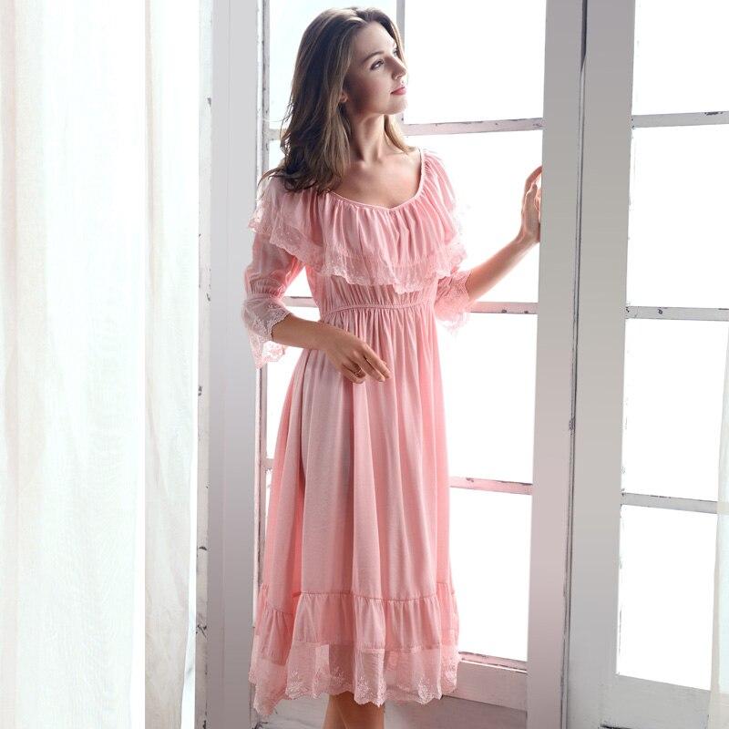Chemises de nuit douceur glace vêtements de nuit en soie femmes doux dentelle chemises de nuit élégant mode princesse robe de nuit X1005