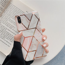 Luxury plating diamond marble phone case for iphone XS MAX XR 6 6s 7 8plus For X soft TPU capa back cover