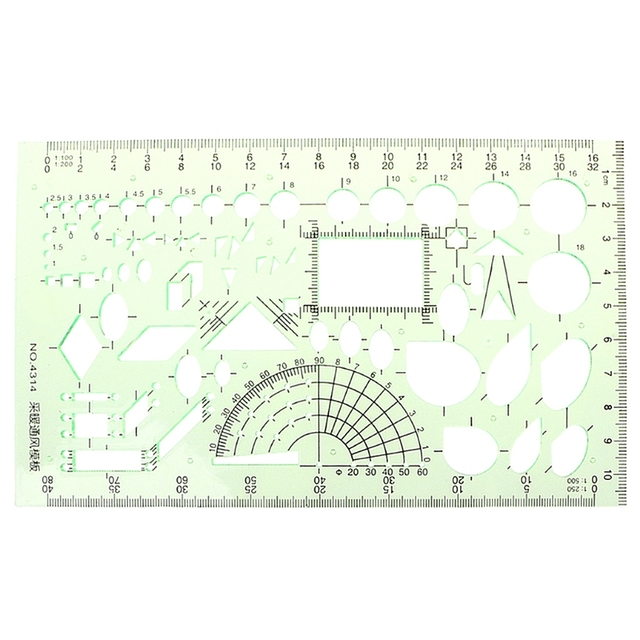 Rectangle Circle Shape Geometric Drawing Tool Template Ruler Student Stationery Hot Ing