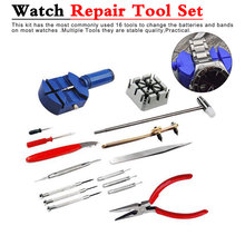 Professional Watch Tools Watch Opener Link Pin Remover Pry Screwdriver Watch Repair Tools Kit Clock Watch Parts Toolbox watch repair tools opener knife yellow silver