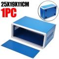 Прочный синий металлический электронный корпус DIY Переключатель проекта распределительная коробка электронный корпус проекта для плоской...
