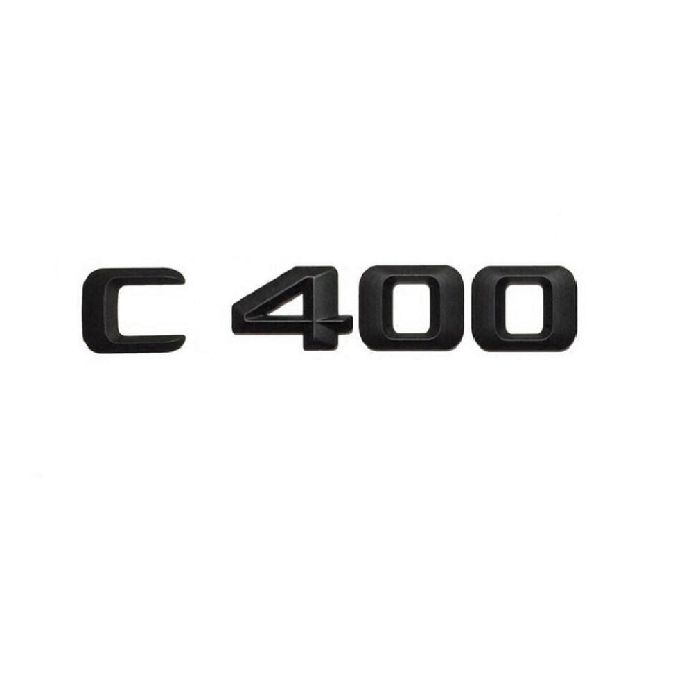 "black /"" C350 /"" High quality Rear Trunk Emblem Decal Badge FOR Mercedes Benz C350"