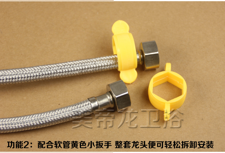 KITCHEN Basin Under The Kitchen Faucet Hot And Cold Water Installation  Maintenance Tools Within 34 Hex Wrench Stainless Tube