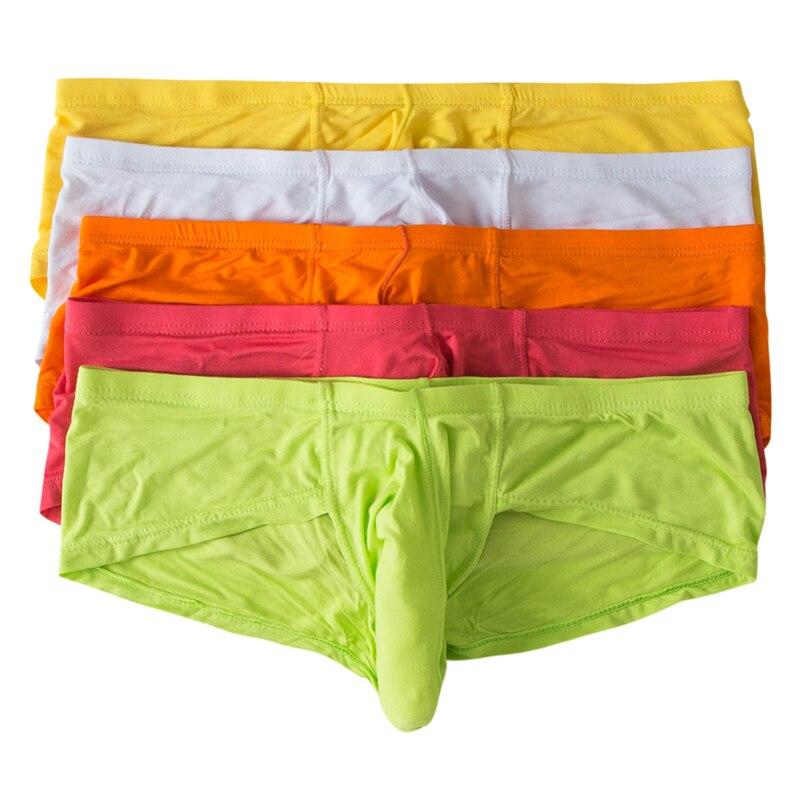 AIIOU 5PCS/Lot Men Sexy Funny Boxers Underwear Gay Sissy Panties Modal Pouch Big Elephant Nose Penis Boxer Shorts Men Underwear