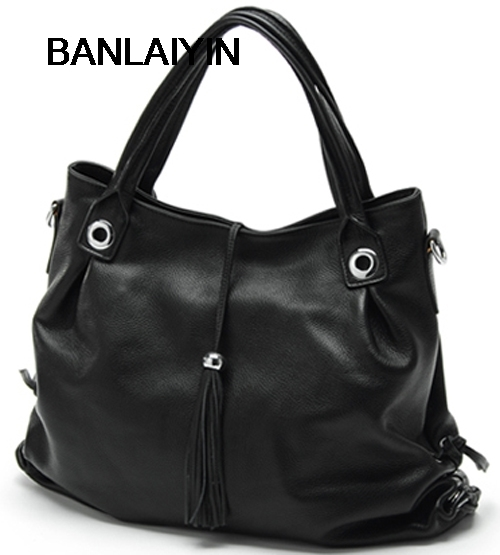Fashion Tassel Genuine Leather Women Messenger Bags Crossbody Bag Real Leather Shoulder Bag Women Handbag Fringe Sling Bag Black fashion genuine leather bag bolsas tassel women handbag 2015 casual crossbody bag popular shoulder bag new women messenger bags