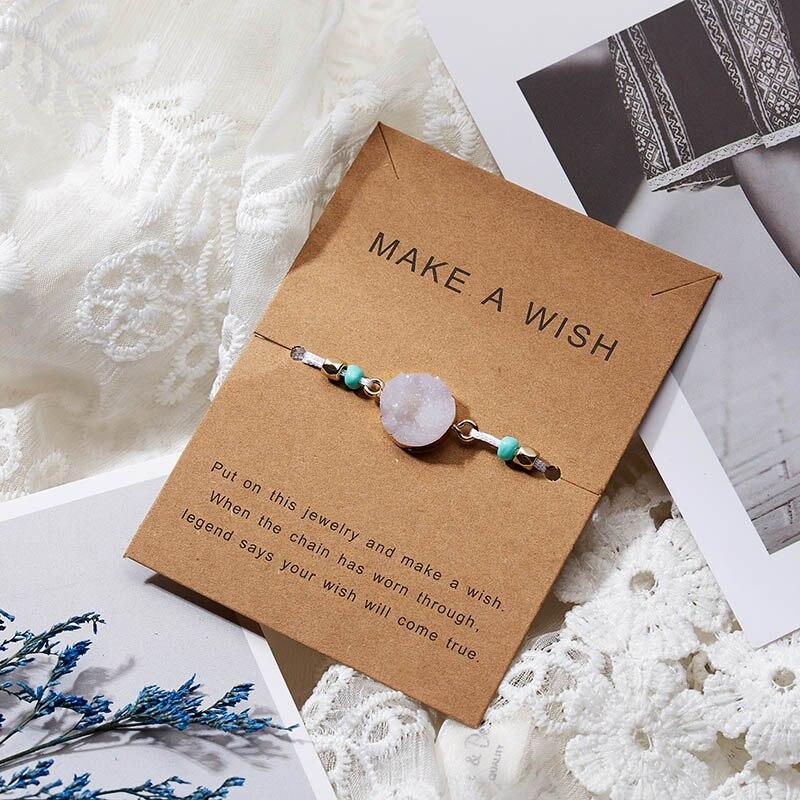 Для женщин браслеты на удачу бисера красная строка натуральный камень ткань браслеты мужчин ручной работы интимные аксессуары с карты - Окраска металла: white