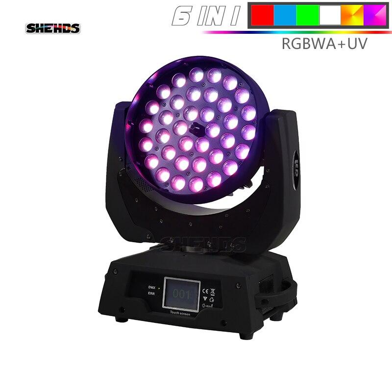 LED lavage Zoom lumière principale mobile 36x12 W/18 W RGBW/+ UV écran tactile adapté à DMX lumière de scène professionnel/KTV effet lumière
