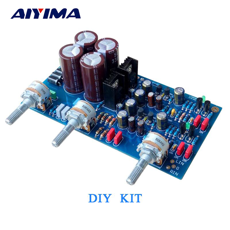 US $17 71 19% OFF|Aiyima HIFI Preamplifier Tone Control Board Diy Kit For  UK NAD3225 Discrete Preamp Low frequency Tweeter amp-in Amplifier from