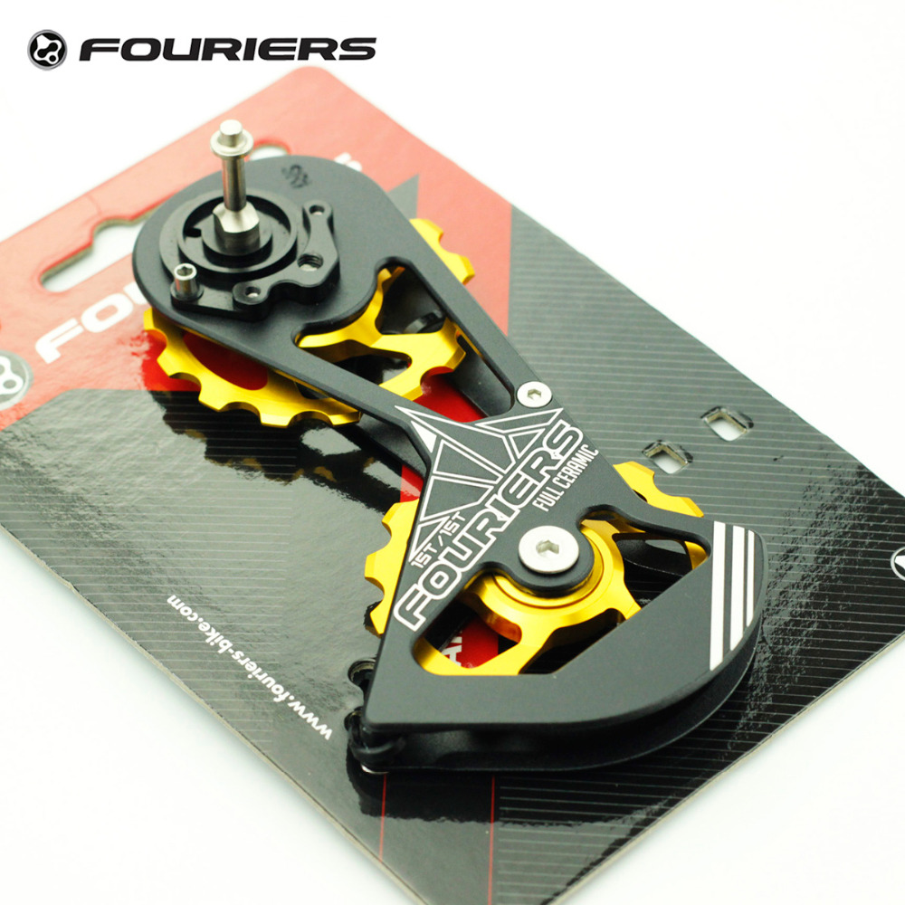 Fouriers Full Ceramic Rear Derailleur Cage Road Bike Big Pulley Jockey Drivetrain Wheel Kit 15T For Sram Red Force Rival Gold billet rear hub carriers for losi 5ive t