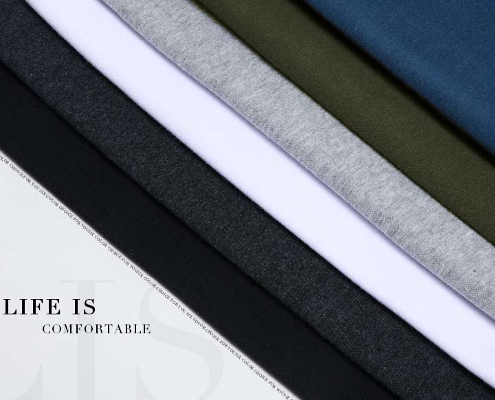 Elastic Mens T-Shirt V-Neck Long Sleeve Men T Shirt For Male Lycra And Cotton T-Shirts Man Clothing TShirt 36