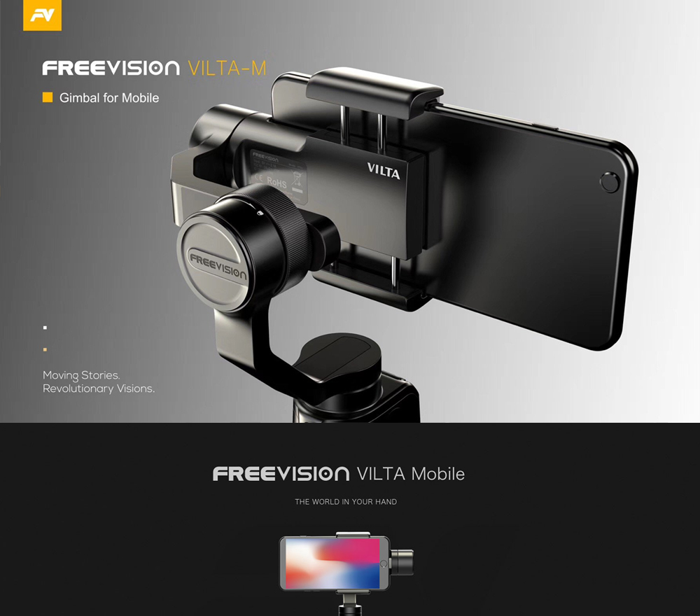FreeVision VILTA Mobile 3-Axis Handheld Gimbal Stabilizer for iphone Xs X Samsung S7 S8 Note Xiaomi GoPro 7 6 PK Zhiyun Smooth 4