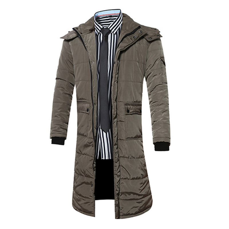 New 2016 Winter Men Coat Brand Clothing Casual X-Long Hooded Thick Warm Down Jacket Parkas Men Overcoats Size S-XXXL free shipping the new winter 2016 men down jacket brand men s 90% feather coat more men with thick cotton padded jacket m xxxl