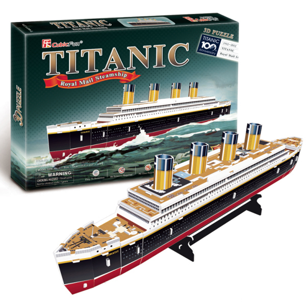 T0423 3D <font><b>Puzzles</b></font> Titanic ship DIY Paper Model kids Creative gifts Children Educational toys Ordinary version