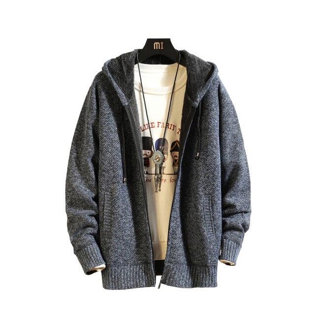2019 осень зима новый свитер кардиган мужской брендовый Повседневный тонкий свитер мужской теплый толстый хеджирующий водолазка свитер курт...