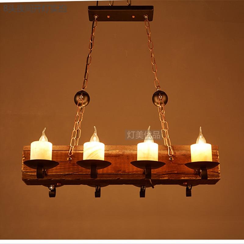 Loft Nordic American Kronleuchter 6/8 Köpfe Retro Vintage Lampe E14 - Innenbeleuchtung - Foto 3