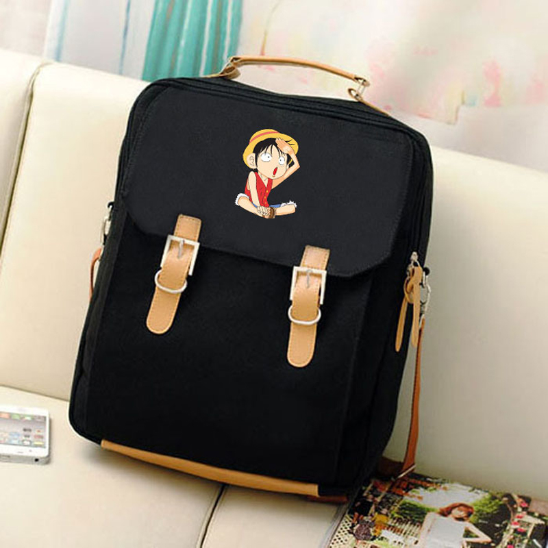 2 Bags Style For Teenagers Mochila Canvas One Backpack Luffy School Hot 1 Backpacks 3 Piece Anime Girls 2017 Preppy Students Women 65qZaH
