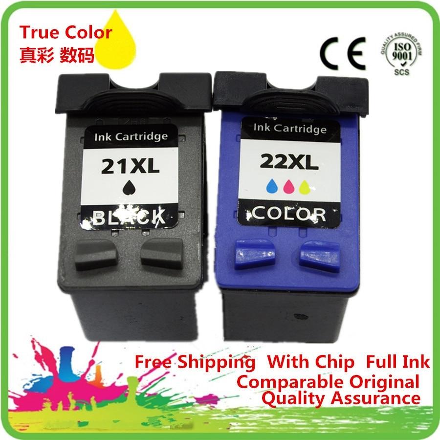 Ink Cartridges Remanufactured For 21 22 21XL HP21XL HP21 HP22 C9351A C9352A DeskJet D1530 D1558 D1560 D1568 D2320 D2330 D2345