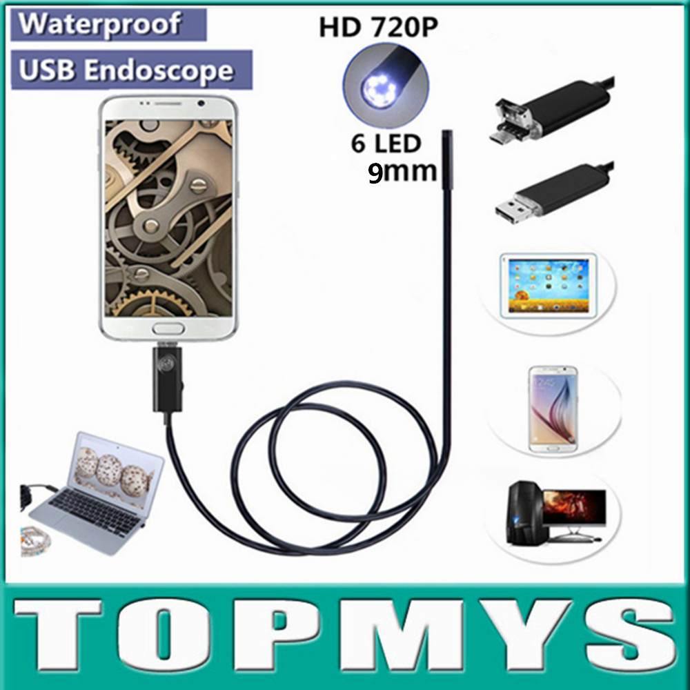 2 in1 USB Endoscope camera TM-HTA9 0.3MP 9mm lens Snake camera support Andriod phone Endoscope usb Inspection Borescope Cam free shipping nts200 3 5inch monitor dia 3 9mm snake camera endoscope inspection borescope cam 3m long 8gb tf card