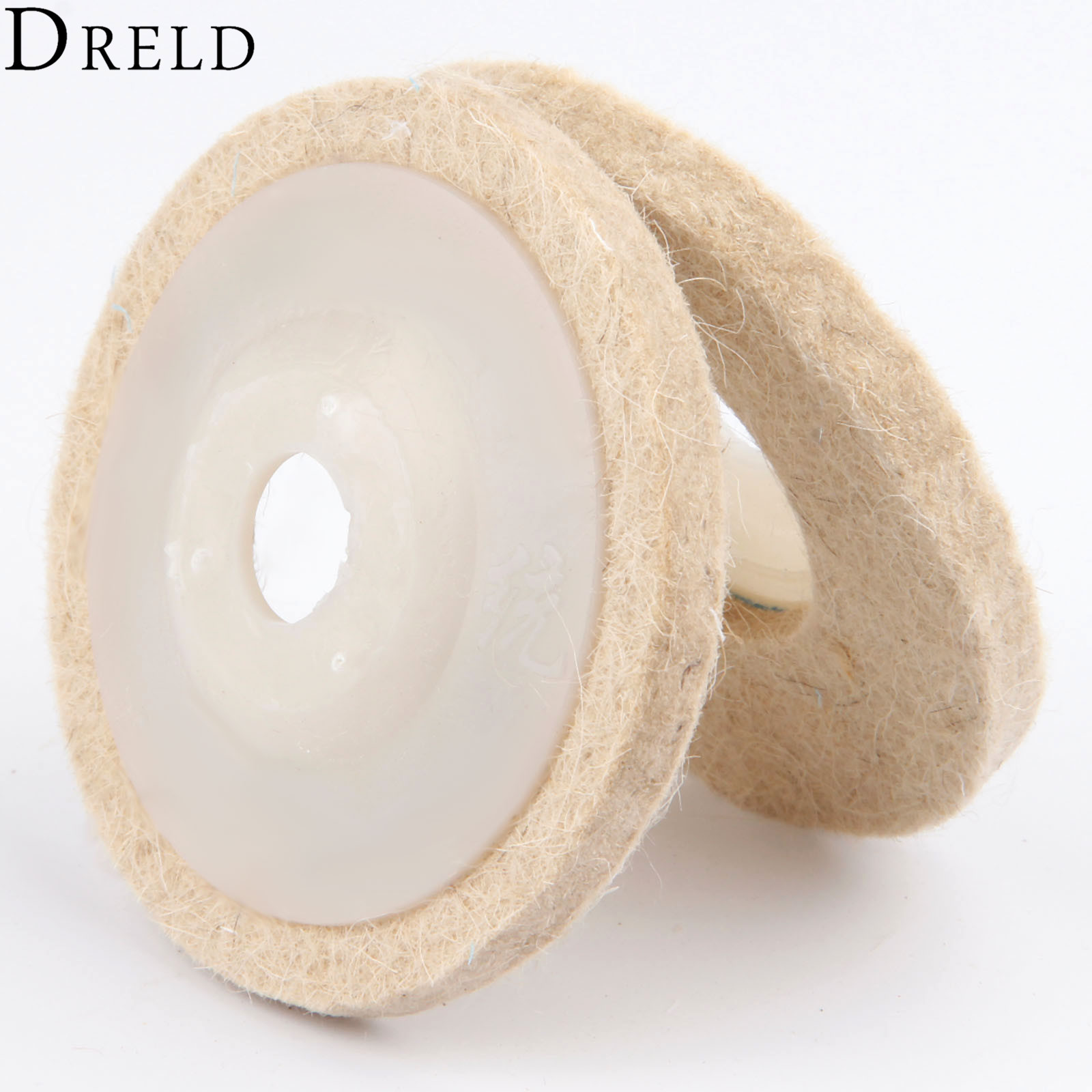 DRELD 80mm/3inch Dremel Accessories Polishing Pad Wool Felt Buffing Wheel Grinding Pad Polisher Disc For Metal Marble Ceramics