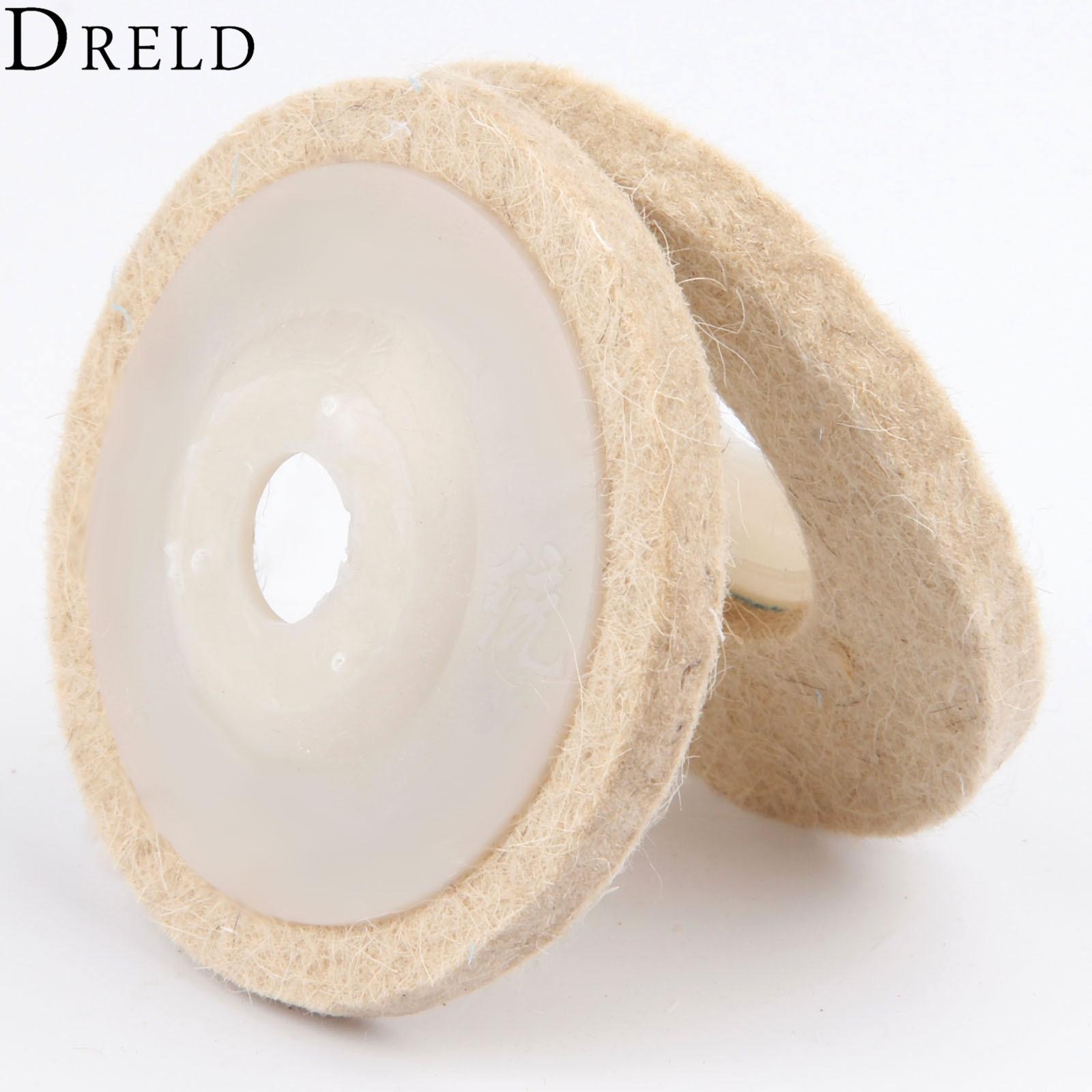 DRELD 80mm/3inch Dremel Accessories Polishing Pad Wool Felt Buffing Wheel Grinding Pad Polisher Disc For Metal Marble Ceramics