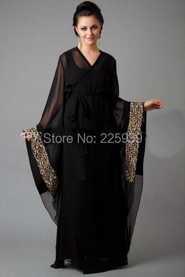 Aliexpress Com Buy Abaya In Dubai Shiny Sequins V Neck