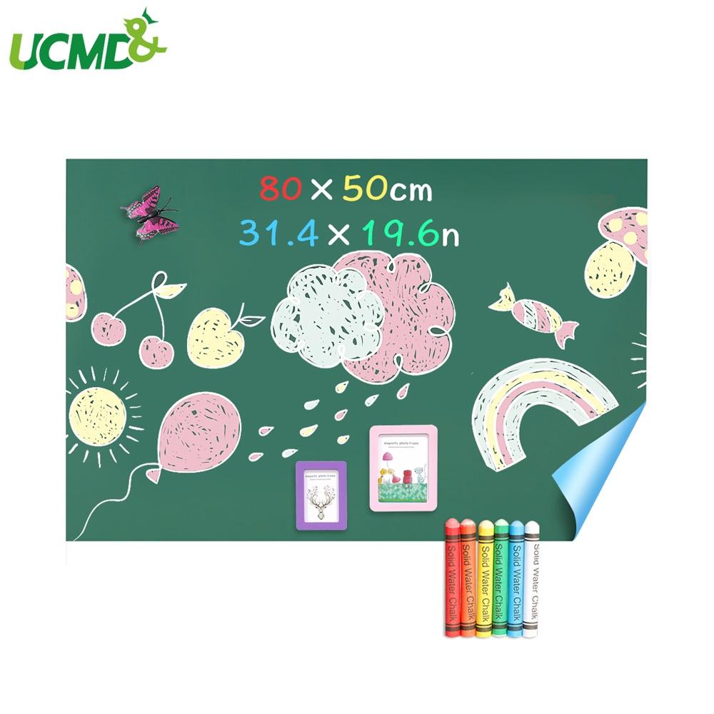 Adhesive Green Chalkboard Stickers Removable Casual Graffiti Writing Black Board Wall Stickers Writing Bulletin Board 80 X 50cm