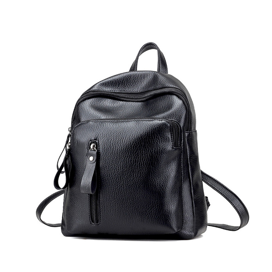 Fashion Women Fashion Artificial leather Backpacks Ladies Zipper Schoolbag Teenagers Girls Bucket Backpacks mochilas mujer S