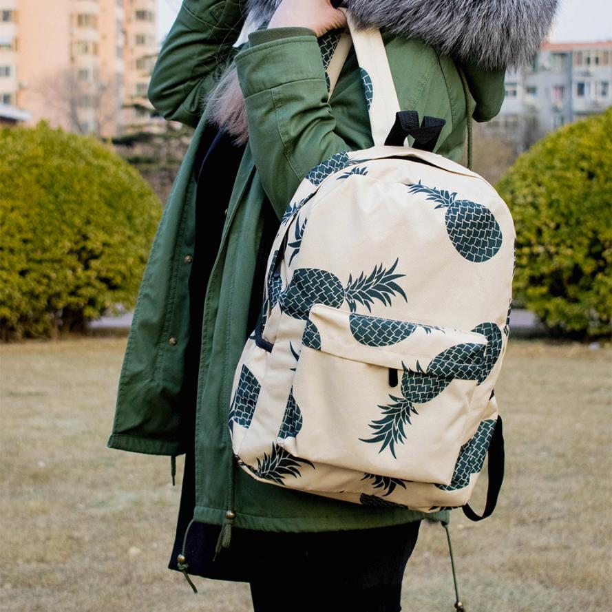 MOLAVE Backpacks new high quality Nylon Fresh Style Women Pineapple Print Bookbags Female Travel backpack women mar22
