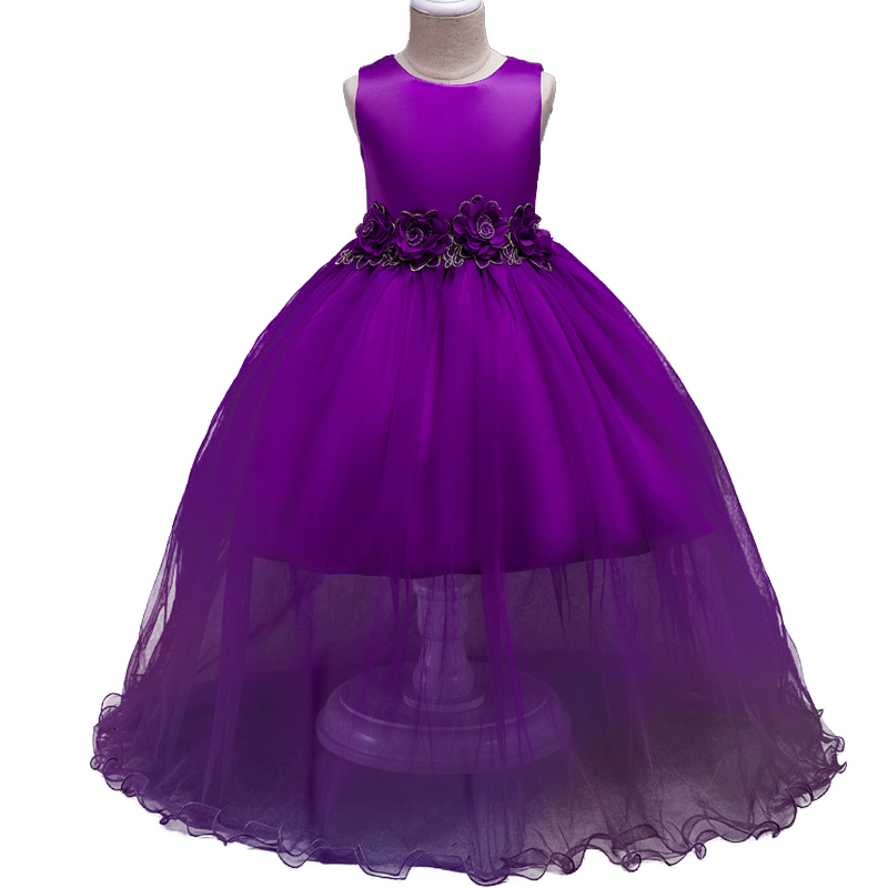 New Baby Girls Party Dress Evening Wear Long Tail Girls Clothes Elegant Flower Girl Dress  Baby Dresses 2017 summer Kids clothes high grade 2017 summer new baby girls party dress wedding clothes long tail 1 6 yrs girls flower dresses kids clothes retail