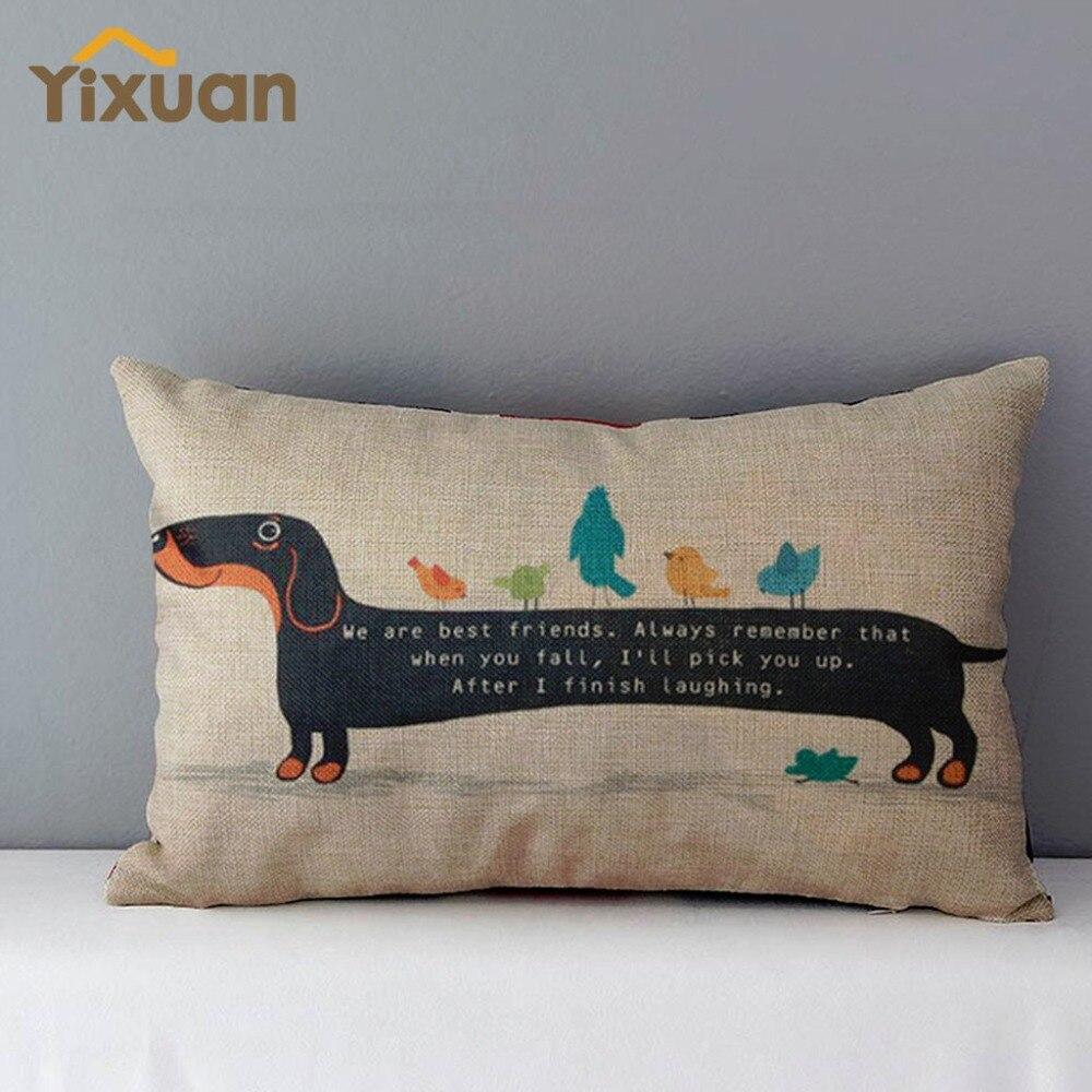 30cm 50cm Dachshund Pattern Cushion Cover Throw Pillows