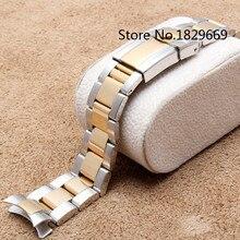 20 mm de acero inoxidable 316L muñeca venda de reemplazar pulsera de reloj de cierre de Metal