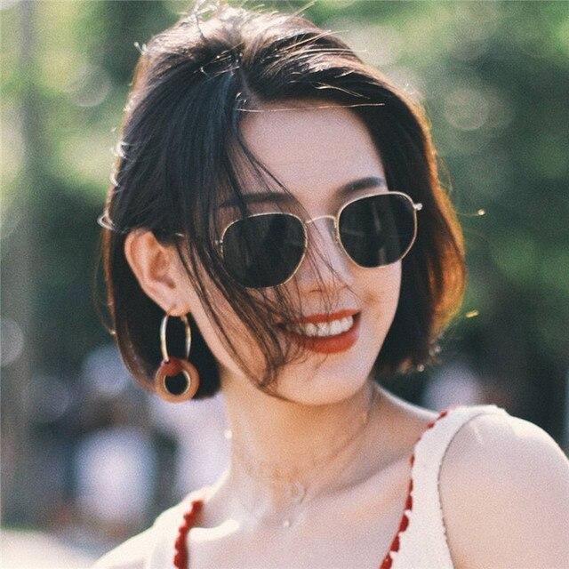 Metal Classic Vintage Sunglasses Luxury Brand Design Female Eyewear 1