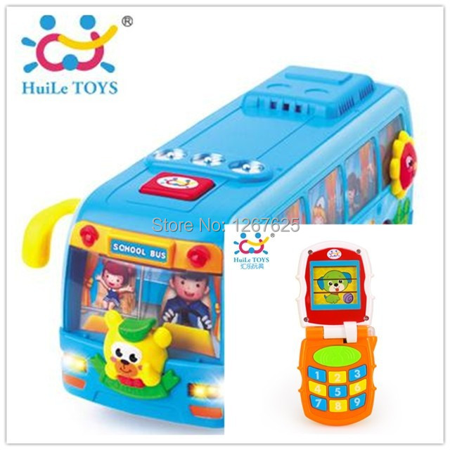 Child Brinquedos para Bebe Educativos Music Mobile Eletronicos Shaking Bus Baby Toys Free Shipping Huile Toys 766 & 908