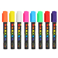 8 Colors/box Erasable Oblique Highlighter Pen Set 6mm Liquid Chalk Fluorescent Neon Marker LED Window Glassboard Pens