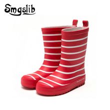 Children Rainboots Boys Girls Robber Shoes Boots Stripe Boot Toddler 2018 Spring Autumn Fashion Rubber Ankle