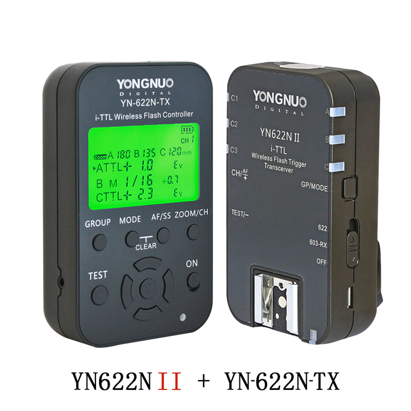 Yongnuo YN622N II YN622N-TX i-TLL Wireless Flash Trigger Transceiver for Nikon Camera for Yongnuo YN565 YN568 Flash 2pcs yongnuo yn622n ii yn622n tx i ttl wireless flash trigger transceiver for nikon camera for yongnuo yn565 yn568 yn685 flash