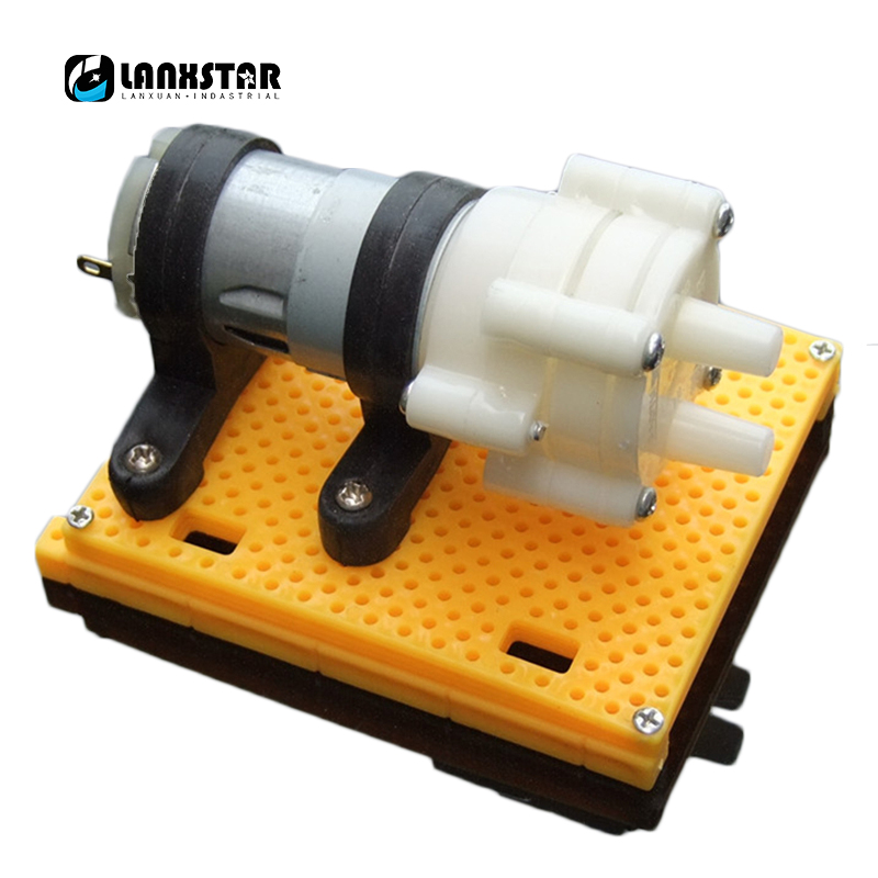 Design 385 Pump Bracket Base Yellow Water Pumps Mounting Seat Holder Fixed Firmly Pumping Bracket-holder yellow 8mm nozzle single outlet coolant magnetic base holder