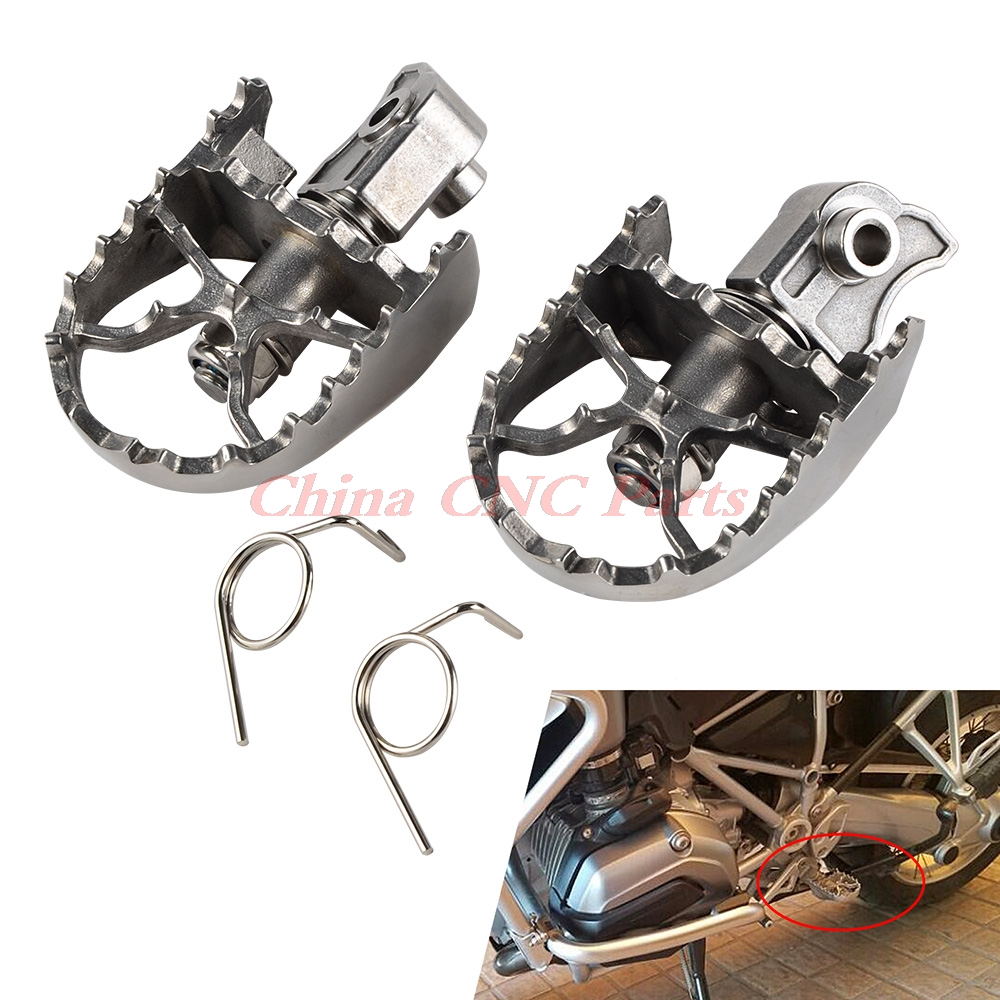 Stainless Steel Front Foot Pegs Rest Pegs Rests For BMW F650GS G650GS 00-12 R1200GS 13-14  R1150GS F800GS/700/650