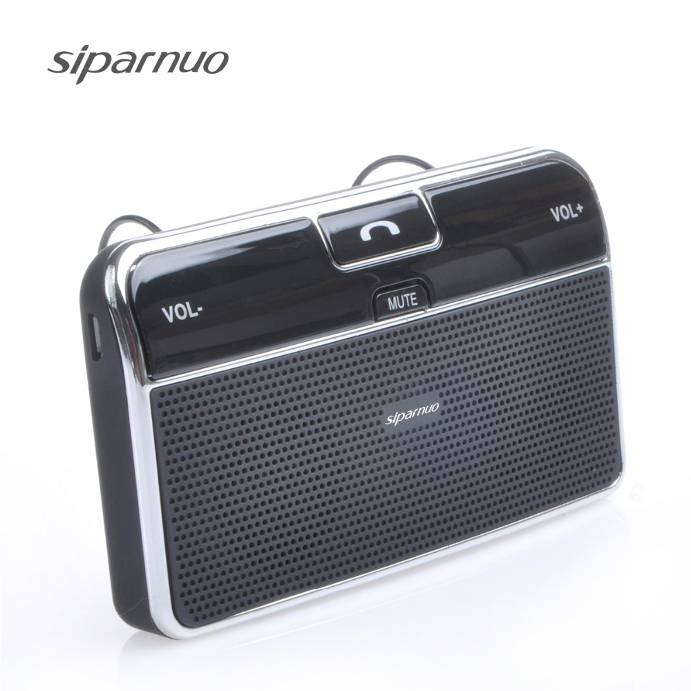 Siparnuo Wireless Multipoint Bluetooth Handsfree Car Kit A2dp Med Bil Laddare Stödjer GPS-ljud Bluetooth Car Spearerphone