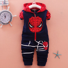 2016 new arrival spring and autumn infant baby boys and girls in children child cartoon long-sleeved coat pants two pieces suit