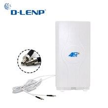 Dlenp 88dBi 4G LTE MIMO anten güçlendirici paneli anten 700 2600Mhz ile 2 TS9 erkek konnektör 2 metre kablo