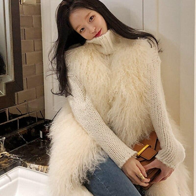 femme couleur beige sans manches streetwear fausse hiver. Black Bedroom Furniture Sets. Home Design Ideas