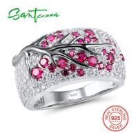 Free Shipping 925 Sterling Silver Ruby Round White Cubic Zirconia CZ Ring