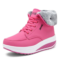 High Quality Women Boots 2017 New Arrivals Height Increasing Thick Plush Women Snow Boots Platform Winter