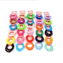 10Pcs/set Solid Elastic Hair Bands Mini Rubber Band Hair Rope Ponytail Holder for Kids Girl Hair Accessories(China)