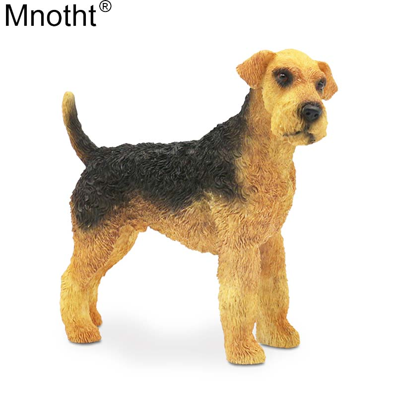 Mnotht Airedale Terrier Model 1/6 Riverside Dog Bingley Dog Animal Toy Scene Accessory for Action Figure Collection Gift lps toy pet shop sparkle eyes spotty dog action figure animal toys for children birthday gift