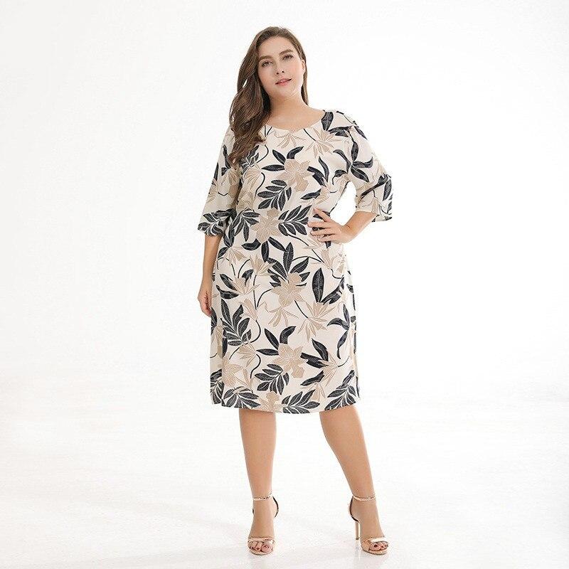 ae0a51fe3fc6 Plus Size Fashion Boho Print Maxi Summer Dress Beach Casual Dress Sexy  Ladies Hawaii Dress White Dress Vestidos Verano 2018